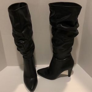 Christian Siriano Black Tall Slouch Boots